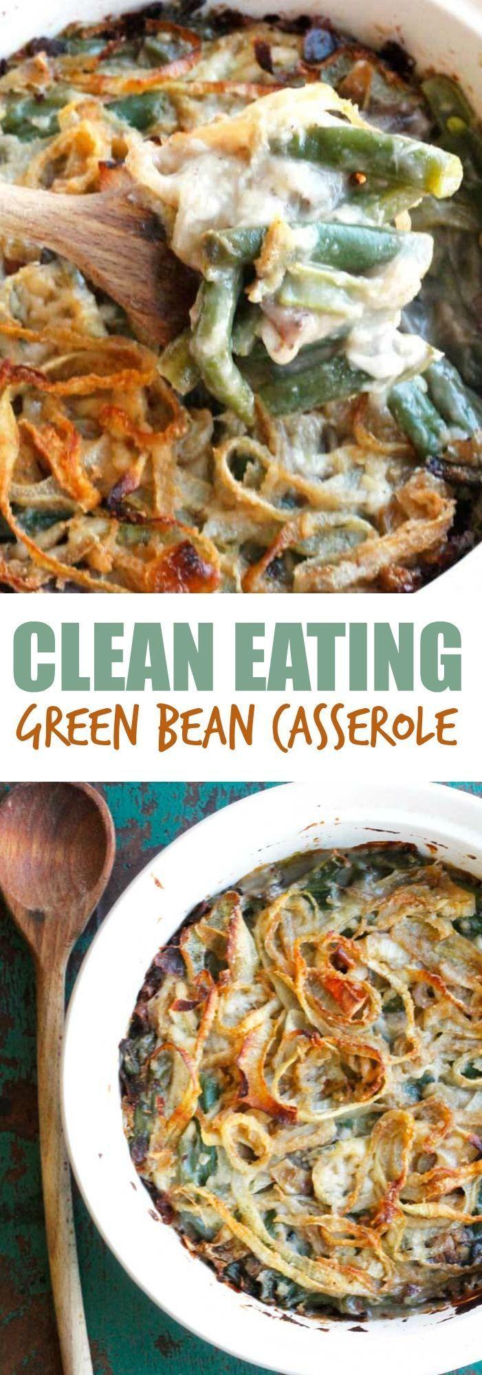Clean Eating Green Bean Casserole - Smile Sandwich