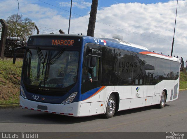 Ônibus da empresa Marcopolo, carro 142, carroceria Marcopolo Torino ...