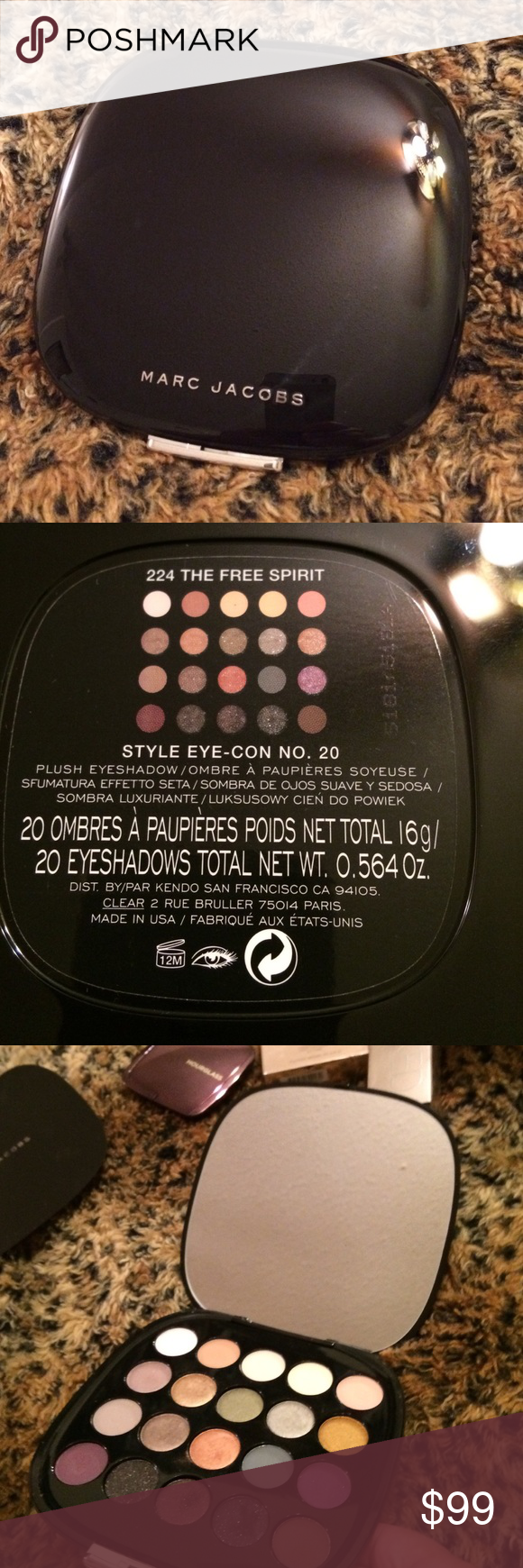 MARC JACOBS ~ PLUSH EYESHADOW ~ STYLE EYE CON #20 MARC JACOBS ~ PLUSH EYESHADOW ~ STYLE EYE CON #20 ~ 224 THE FREE SPIRIT ~  SOLD OUT EVERYWHERE ~ 20 COLORS OF WHICH 7 ARE LIGHTLY SWATCHED ~ % AUTHENTIC ~ BUNDLE & SAVE 10% Marc Jacobs Makeup Eyeshadow