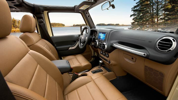 New Leather Interior Of The Jeep Wrangler Unlimited 4dr I Want