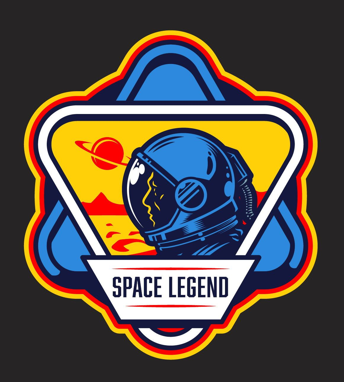 Space Emblems In 2020 Aesthetic Stickers Astronaut Illustration