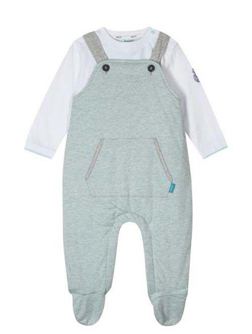 ca7d6e6d3d74a0 Ted Baker Baby Boys Wadded Dungarees T Shirt Pram Suit Designer 12-18 Months