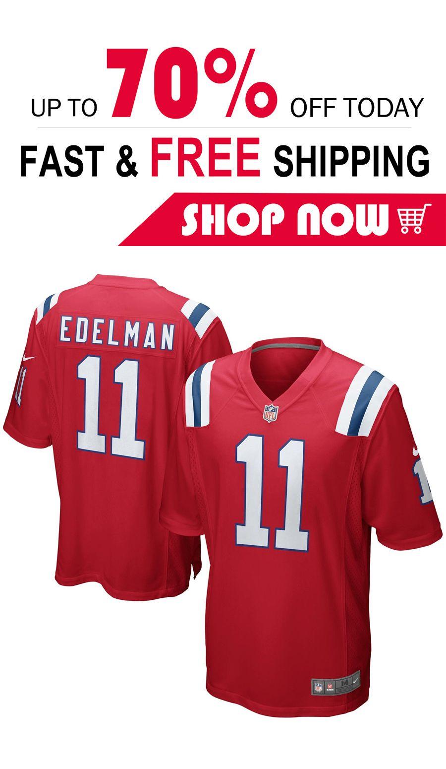 Julian Edelman New England Patriots Nfl Pro Line Team Color Jersey Red New England Patriots Football New England Patriots Patriots Football