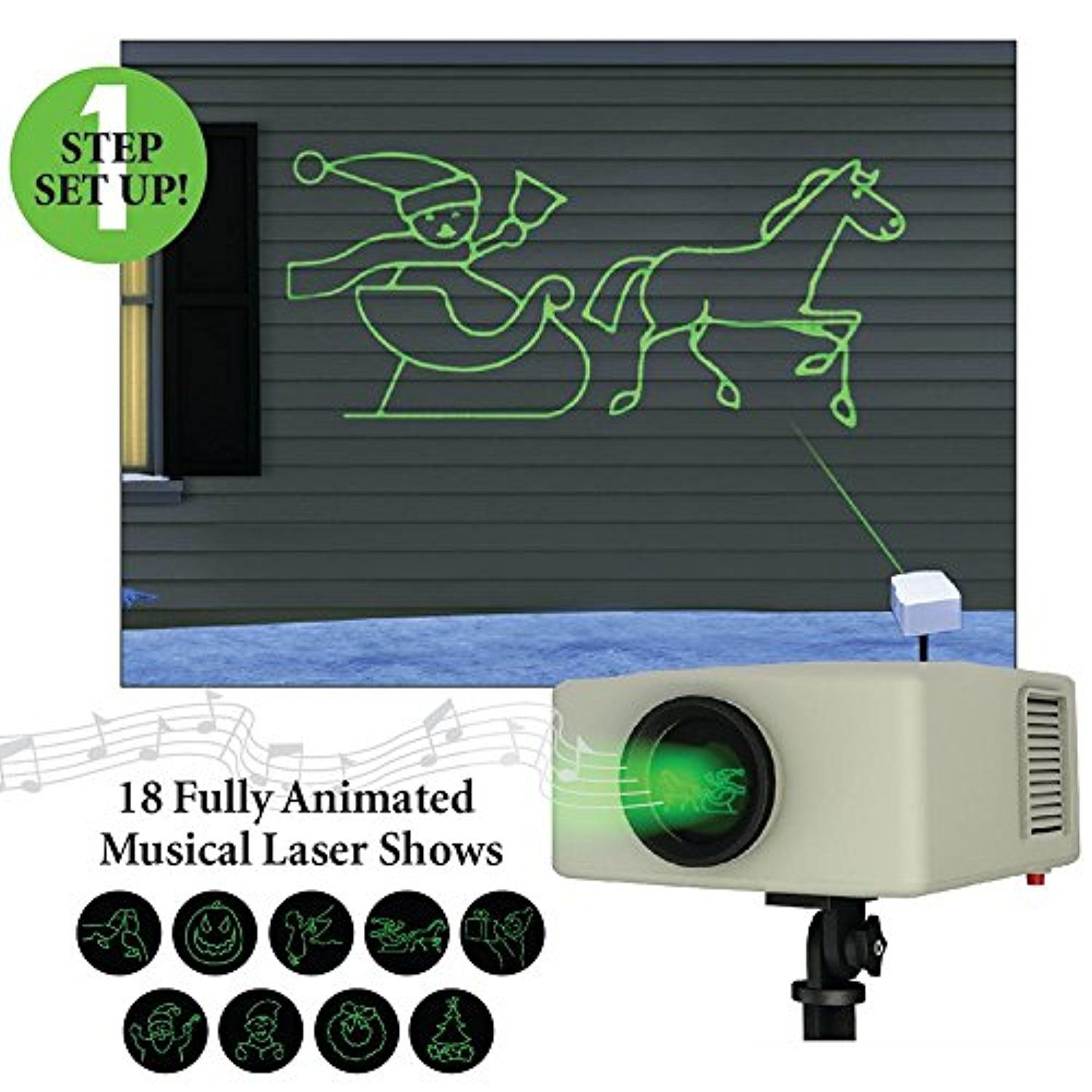 Mr Christmas Laser Light and Sound Animated Light Show Projector