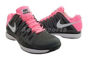 c46609cf390a Nike Zoom Vapor 9 Tour Black Pink Roger Federer Mens Tennis Shoes chardy  wore these at aussie open!!