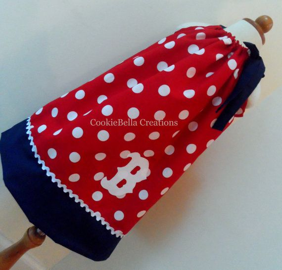 Boston Red Sox Red Polka Dot Pillowcase dress. Perfect gameday dress for  baby toddler little 86120731613b