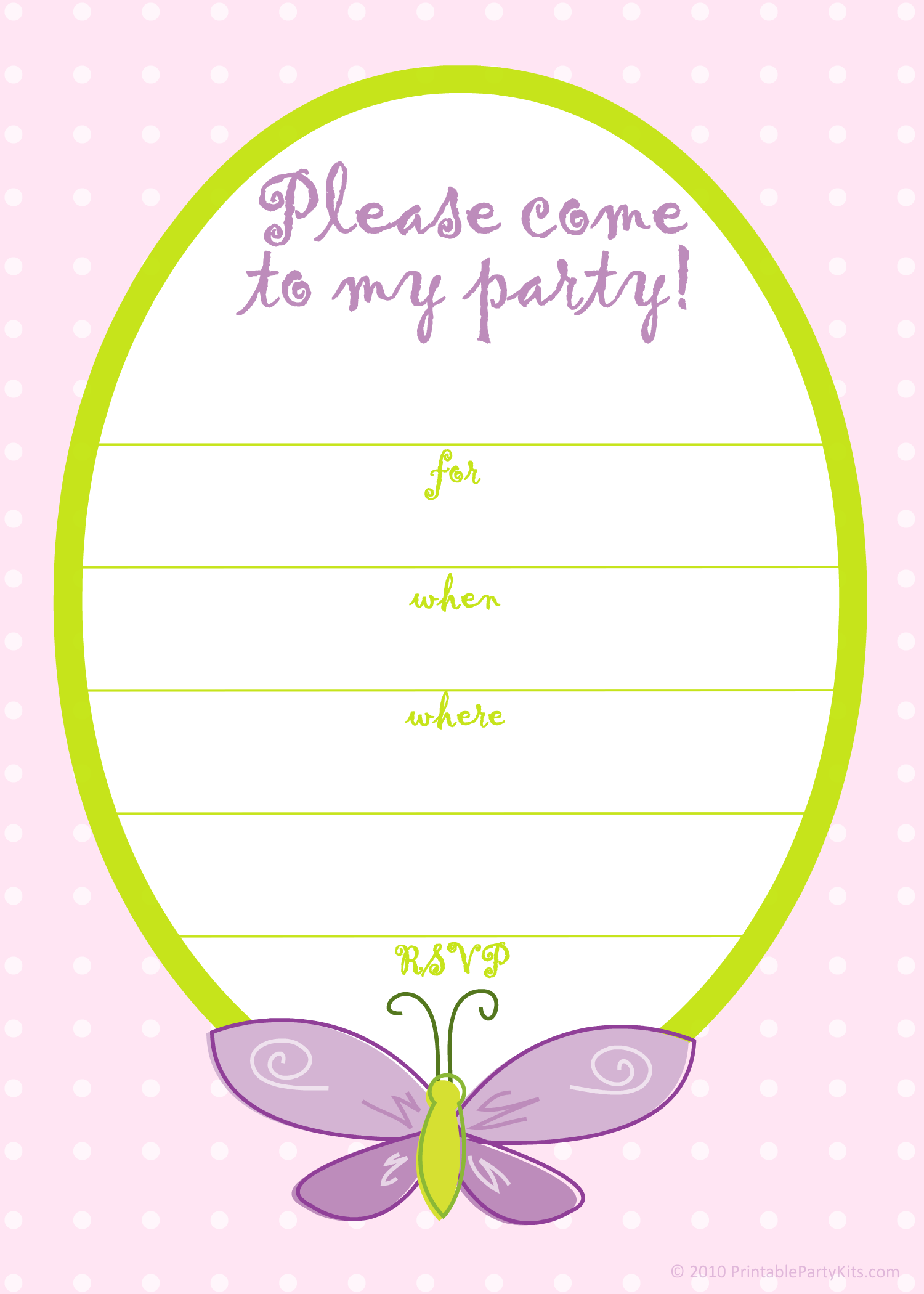 Free Printable Butterfly Party Invitation Template Birthday Party Invitations Free Birthday Party Invitations Printable Birthday Invitation Card Template