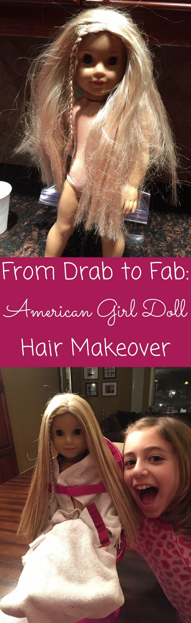 From Drab to Fab: An American Girl Doll Hair Makeover #dollcare