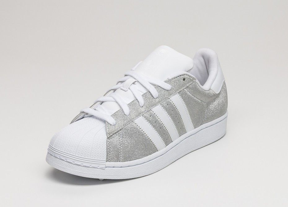 adidas superstar metallic silver