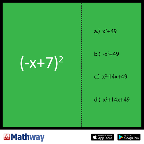 Test Your Math Skills With Mathway Can You Figure Out Which Expression Is Equivalent Math Skills Math Brain Teasers