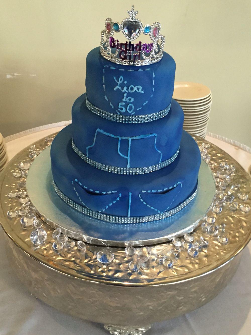Denim And Diamonds Birthday Cake Yummy To Your Tummy