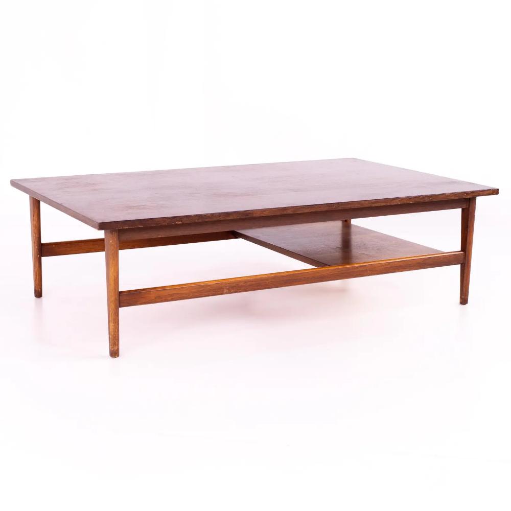 Mid Century Walnut Large Rectangular Coffee Table In 2020 Coffee