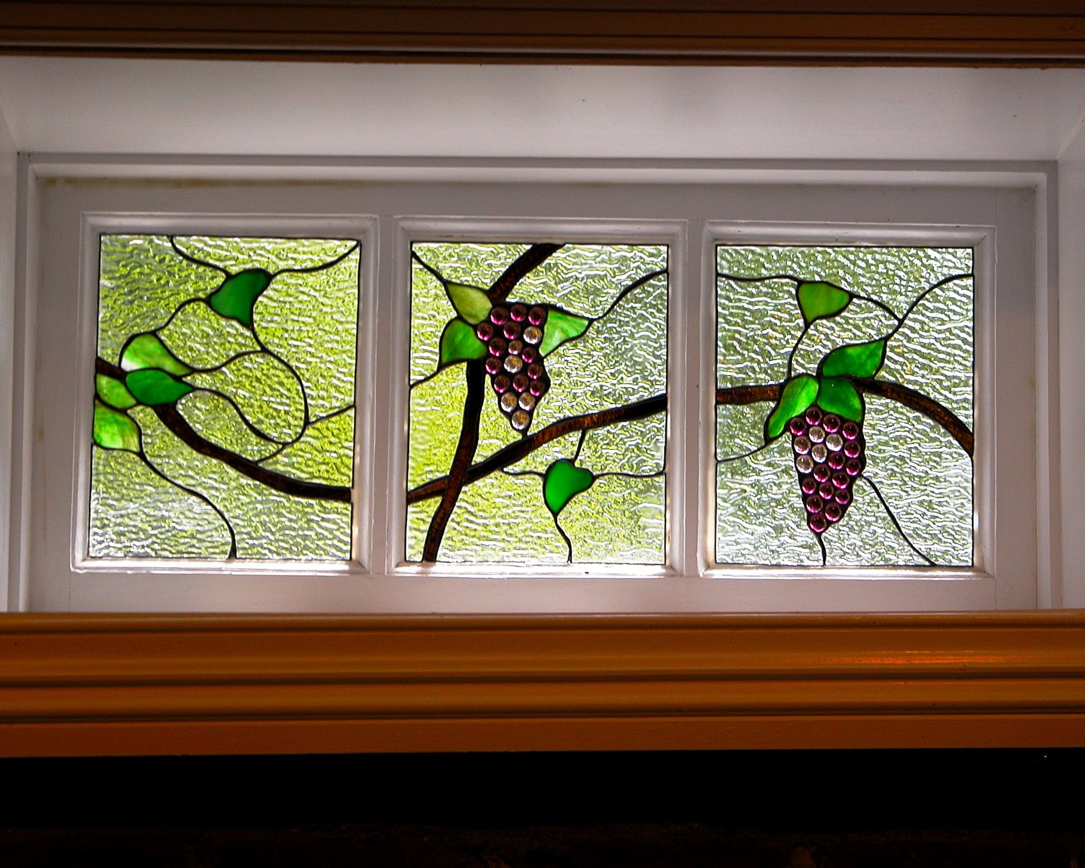 Leaded glass designs for windows - One Of Our Leaded Glass Designs Grapes Chestnut Hills