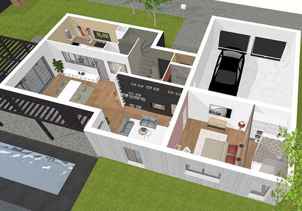 plan 3D déco 3D Pinterest 3d - logiciel 3d maison gratuit