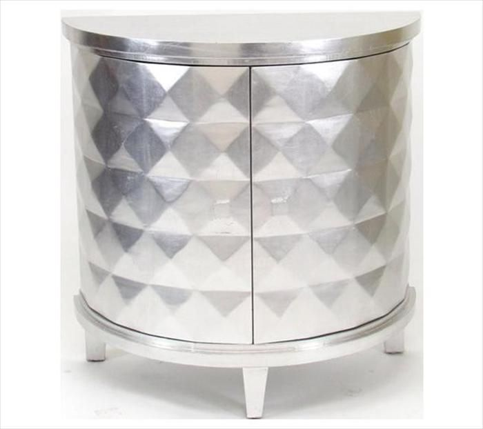 Wayborn Demi-Lune Console in Silver