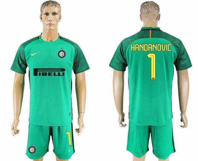 cheap for discount 42d81 1a7fc 2017-2018 Inter Milan #1 HANDANOVIC green goalkeeper Soccer ...