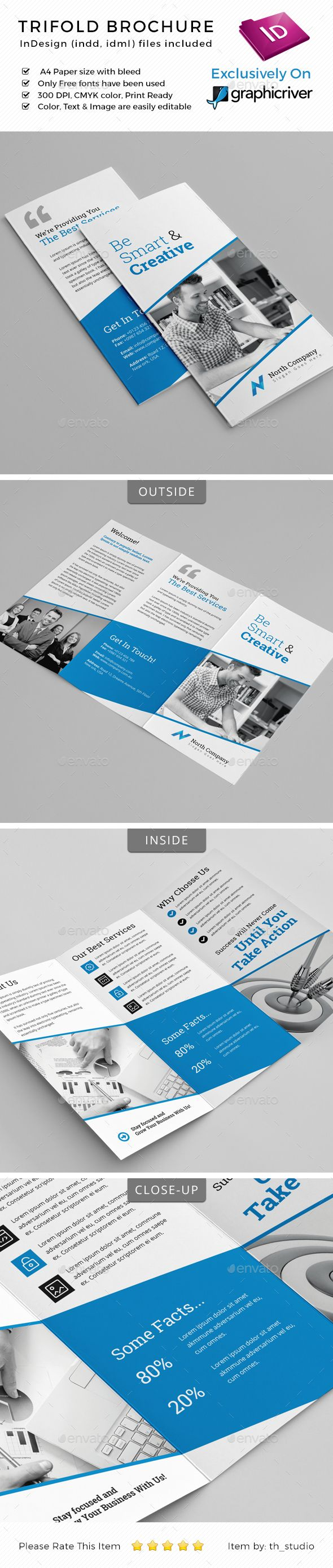 trifold brochure template tri fold design pinterest brochure