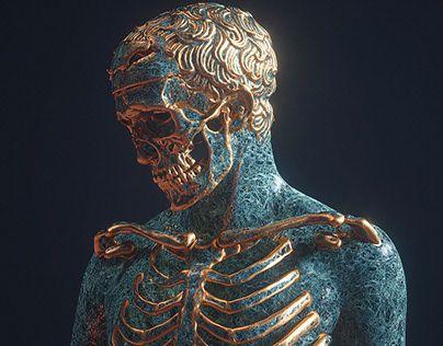 Santa Muerte †   juanki in 2019   Sculpture art, Art, Skull art