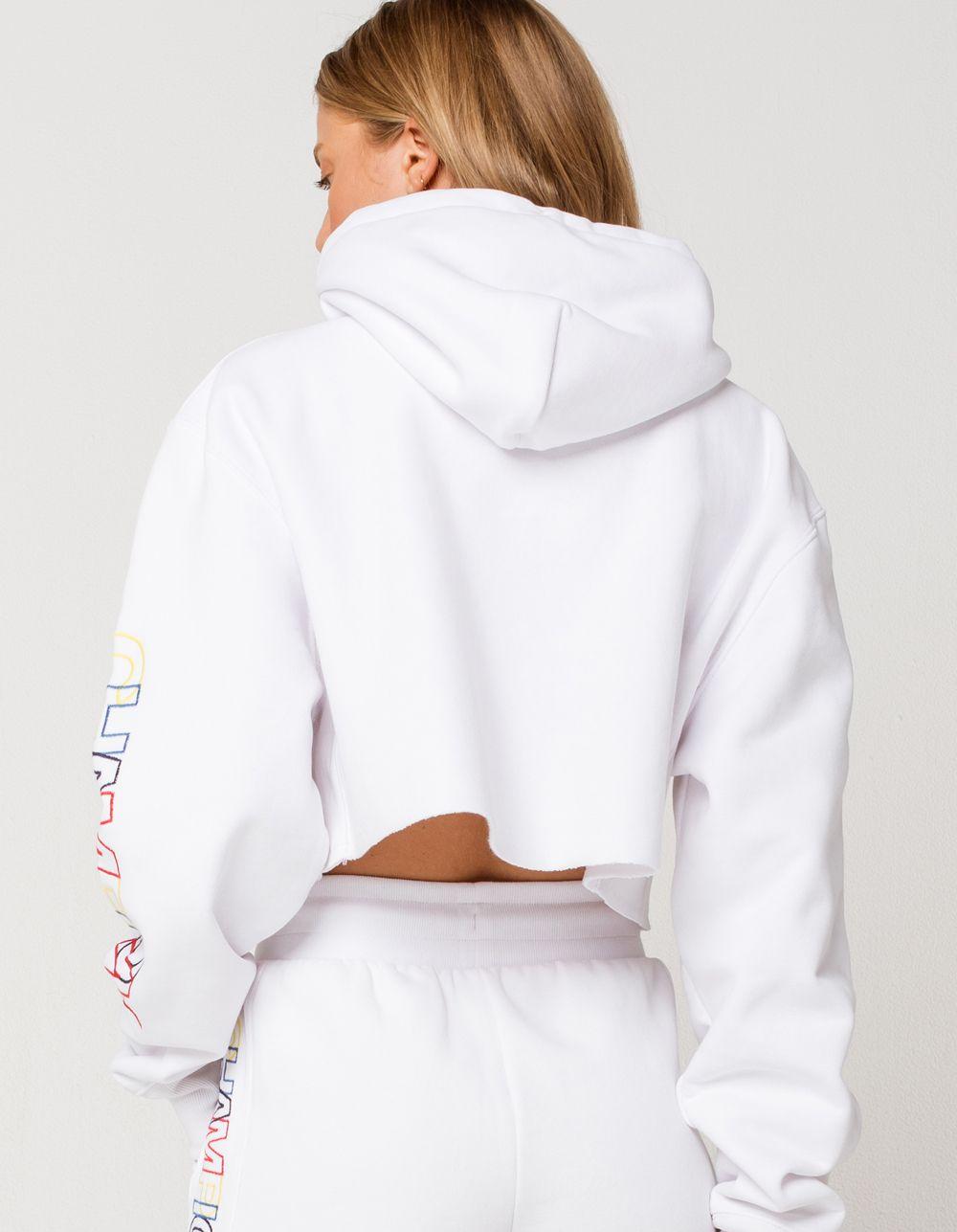 Champion Reverse Weave Womens Cropped Hoodie White 359954150 Cropped Hoodie Outfit Cropped Hoodie Champion Reverse Weave [ 1287 x 1000 Pixel ]