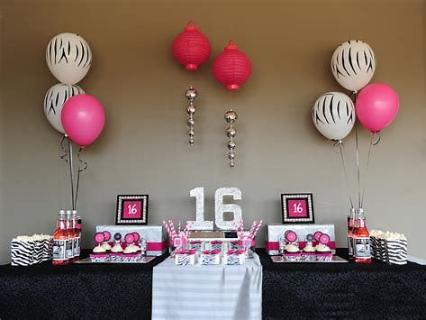 image result for sweet 16 birthday party ideas girls for at home