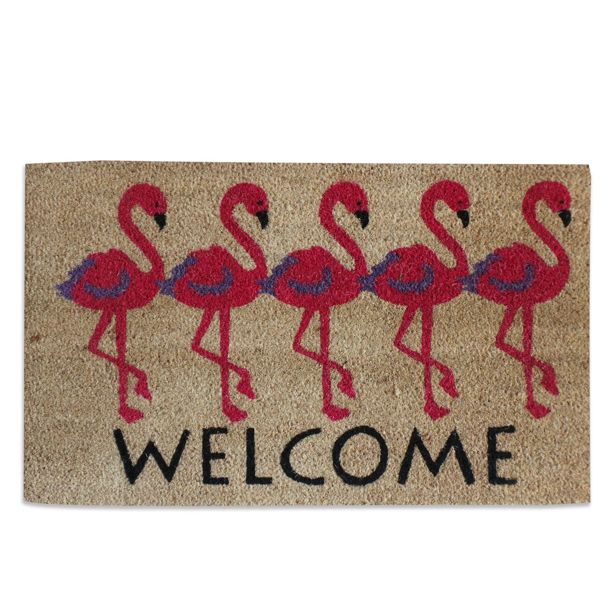 Flamingo Welcome Doormat   Pinterest   Doormat and Flamingo