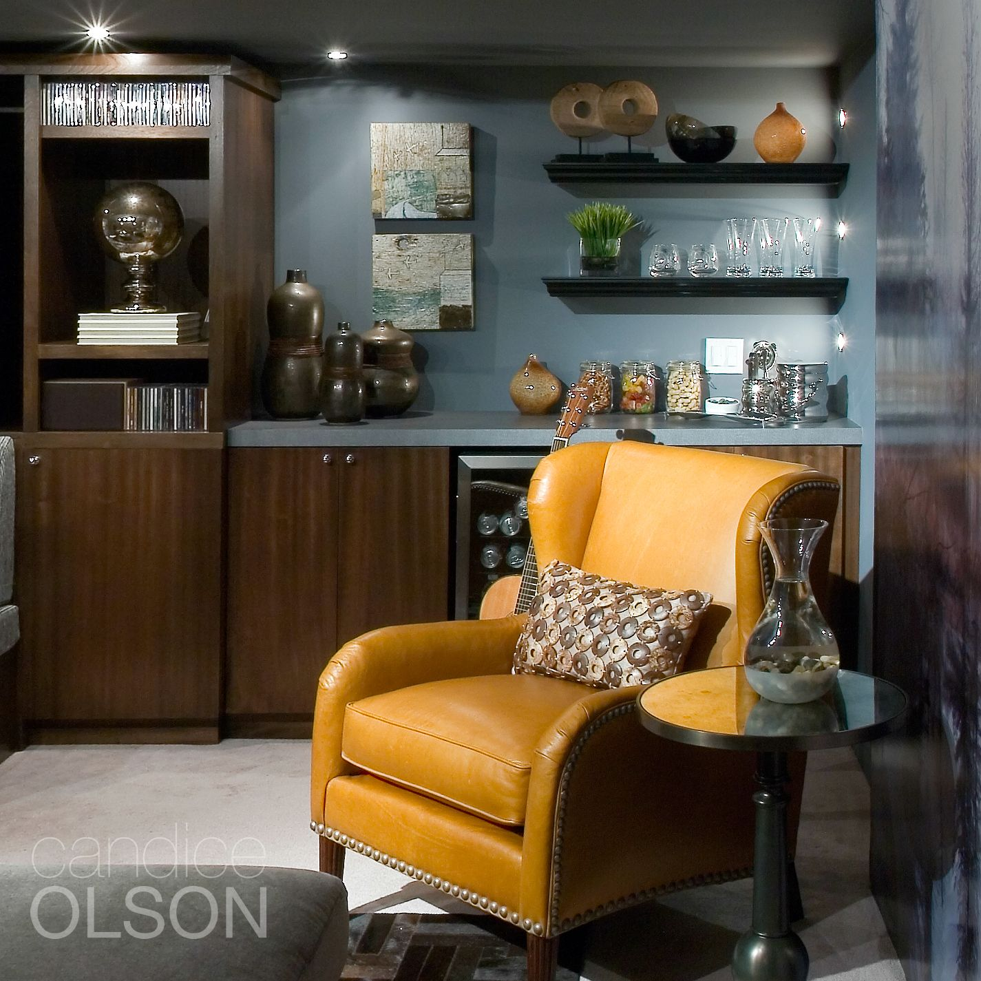 Candice Olson Basement Design: Let There Be Light! Working With A Shallow Bulkhead And
