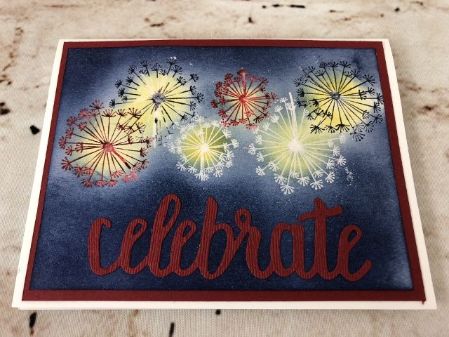 red white and blue 4th of july cards  dandelion wish
