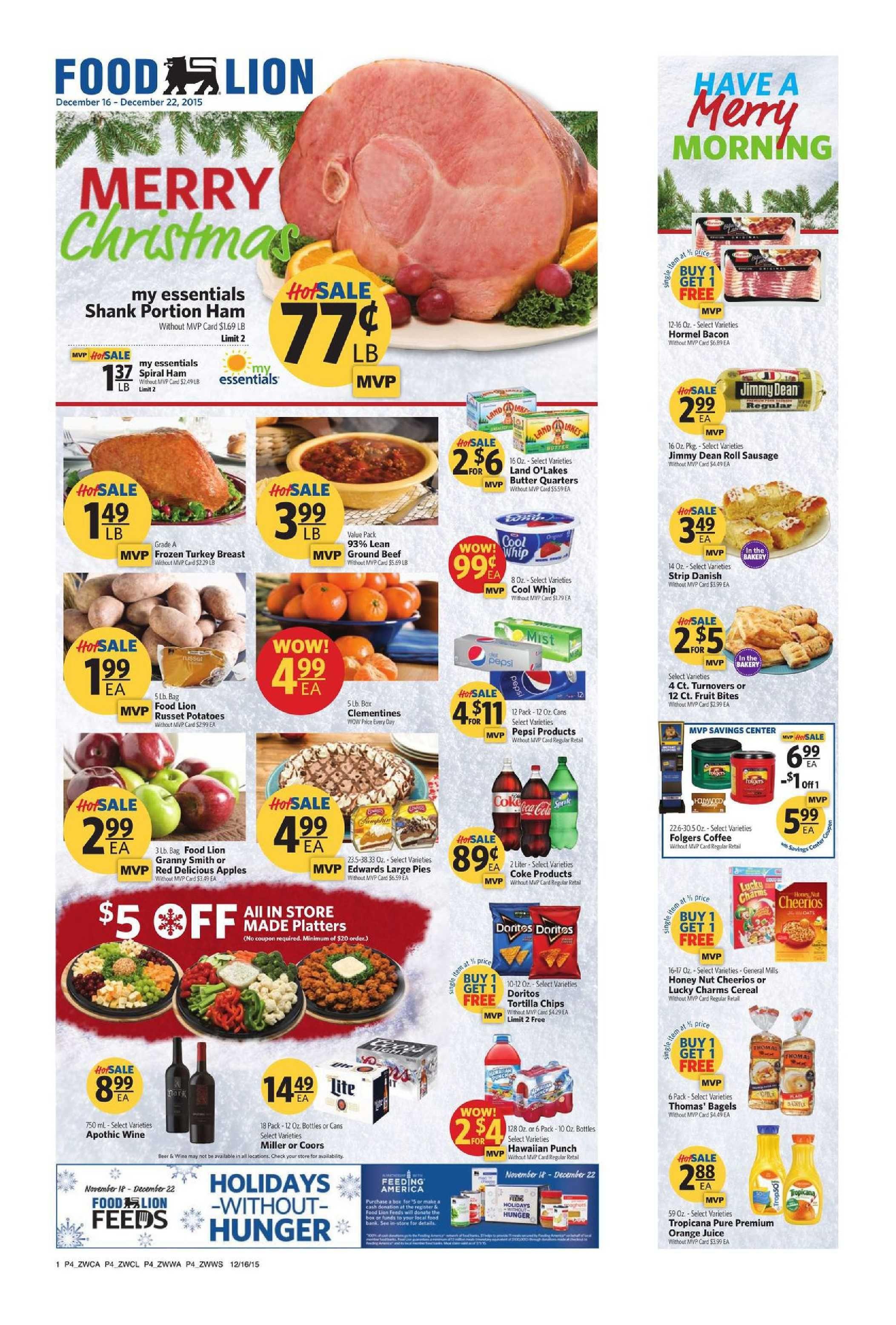 Food lion weekly ad december 9 15 2015 httpwww