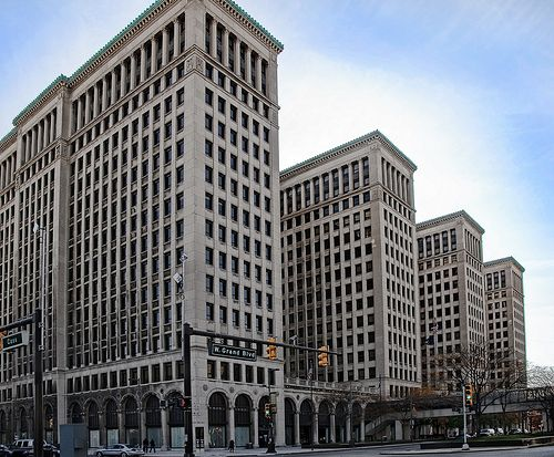 Old Gm Building Gm Building Abandoned Detroit Michigan