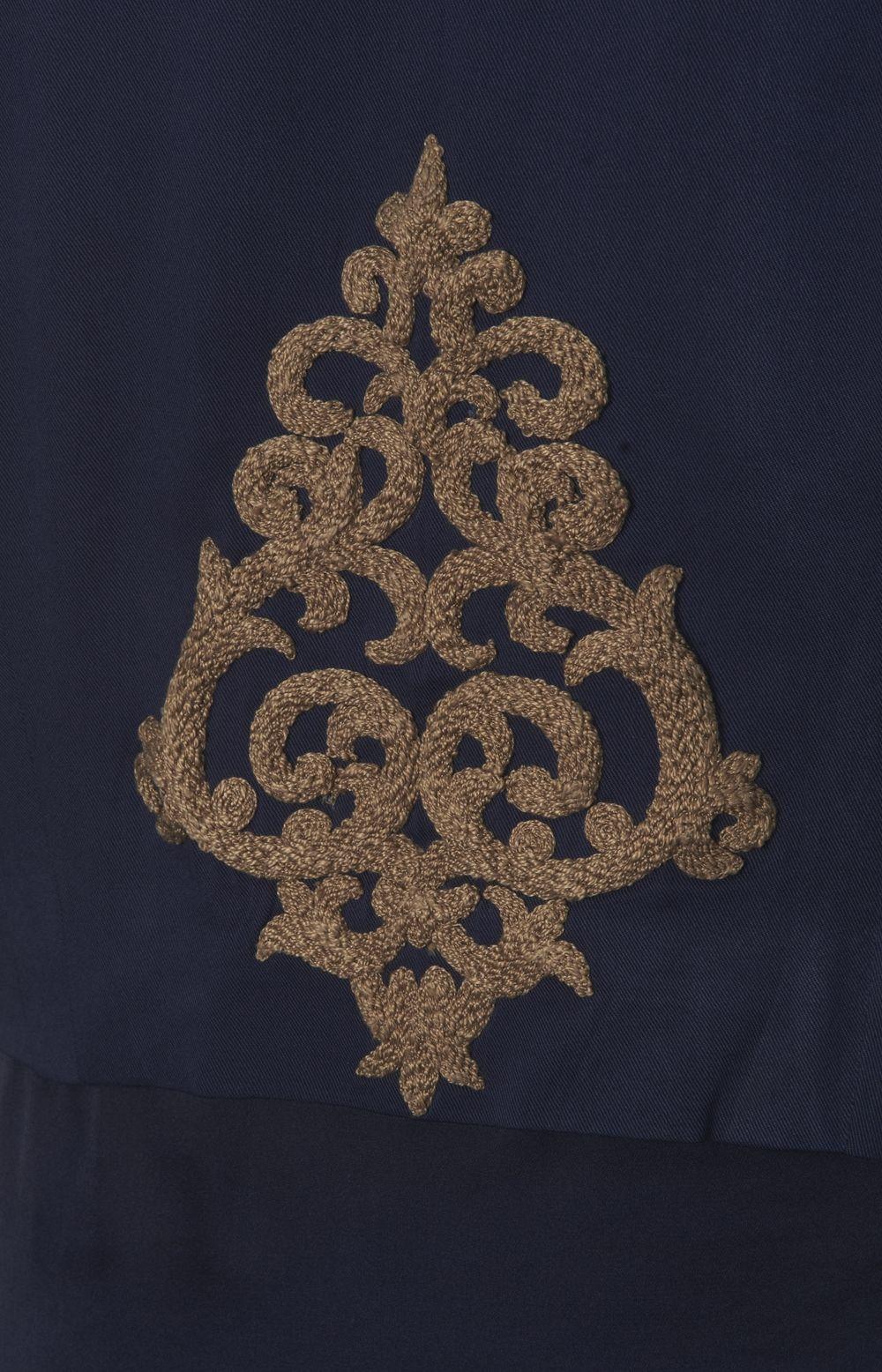 Anchor blue open jacket motifs hijab clothing pinterest