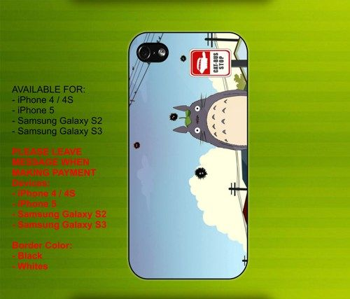 TOTORO CAT case for iPhone 4/4S iPhone 5 Galaxy S2/S3 #iPhonecase #iPhoneCover #3DiPhonecase #3Dcase #S4 #s5 #S5case