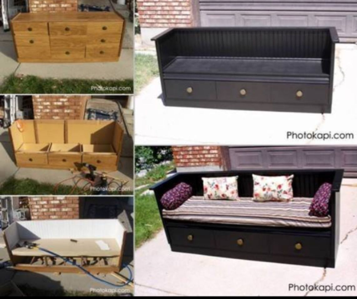 You Will Love This Upcycled Dresser To Bench Diy And We Have A Quick Easy Video Tutorial Show How Check Out All The Ideas Now
