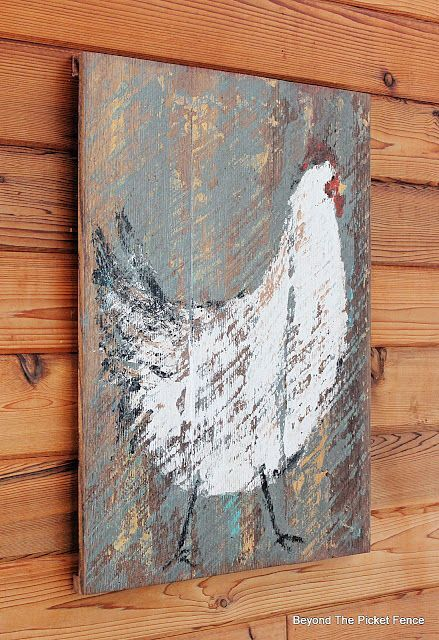 Cluck, Cluck Chicken Painting