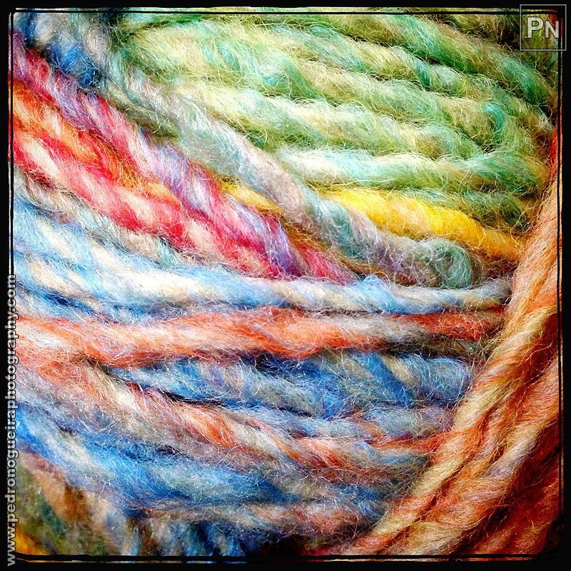 "285 ""Colorful wool"" Mobile phone - Project 365 - A photo per day throughout the year."