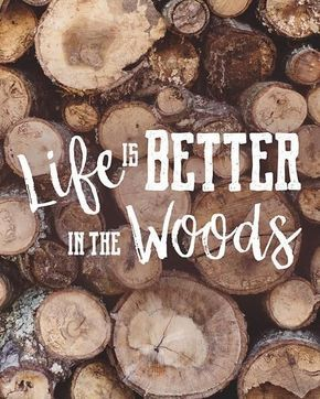 Photo of Life is Better in the Woods – Log Cabin Decor