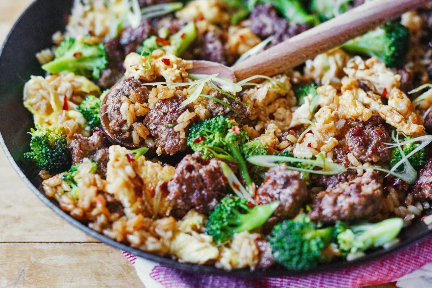 Recipe Beef And Broccoli Fried Rice Recipe In 2020 Broccoli Beef Fried Rice Ground Beef And Broccoli