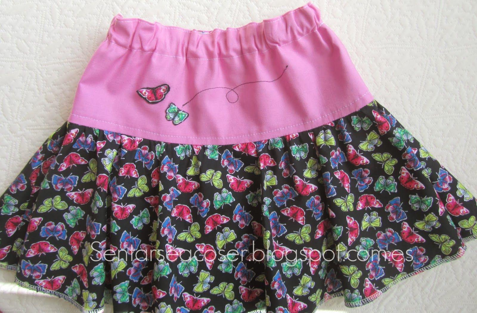 Sentarse a Coser: Tutorial falda de niña a capa y con canesú. Fácil ...