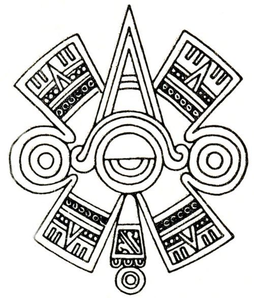 "9c43591d6666b Ollin. Aztec glyph symbol of ""centered"" Eye or Third Eye ..."