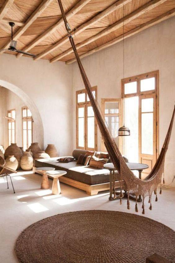 Hamac d 39 int rieur jolie pi ce de vie house pinterest interiores casas y hamacas - Hamac d interieur ...