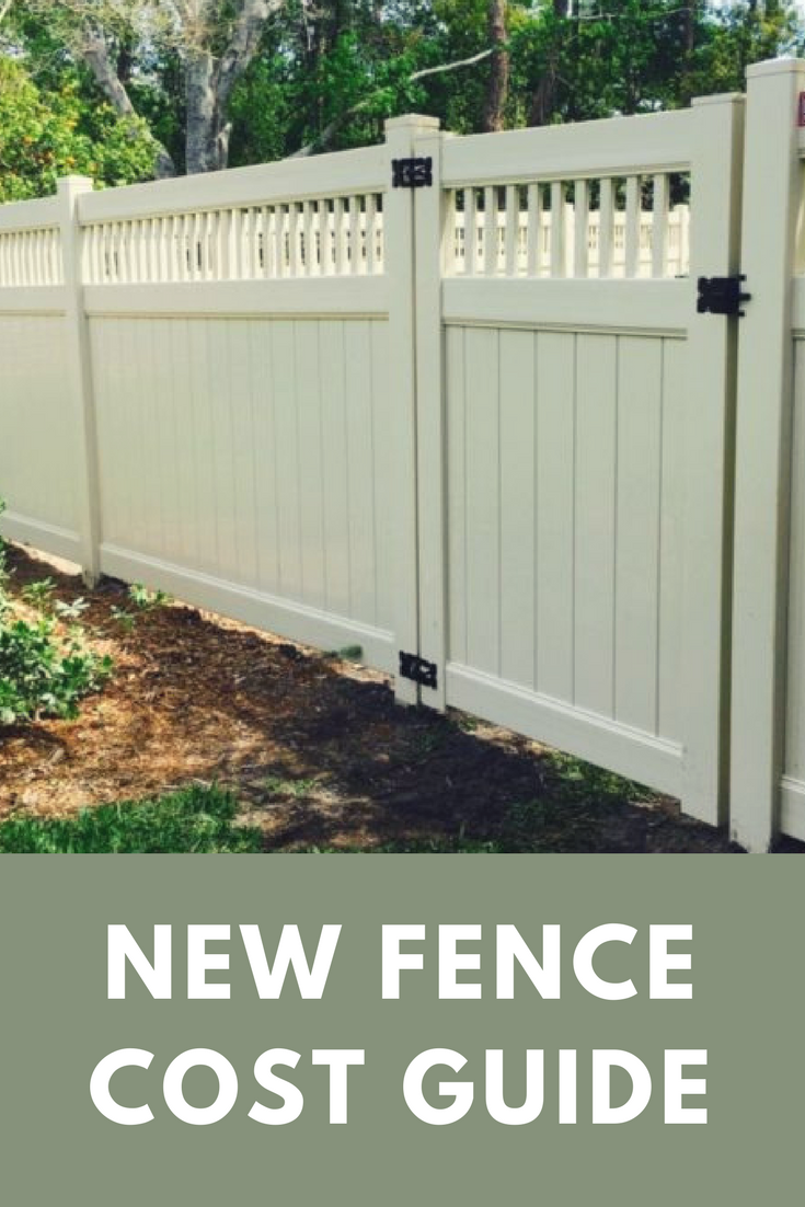 Cost To Install A Fence 2020 Average Prices Vinyl Fence Cost Wood Fence Design Fence Design