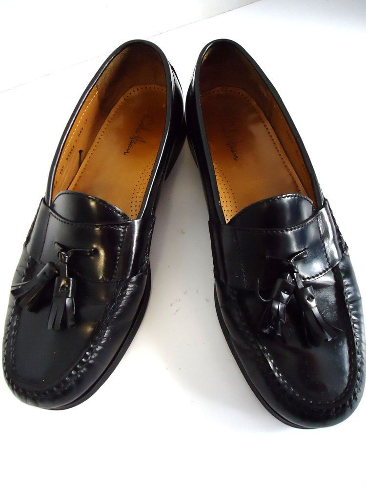 1e03a20fb3c Cole Haan Leather Moccasin Tassle Dress Loafers Footwear Mens Used Shoes