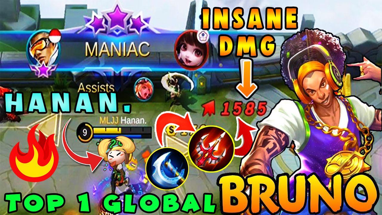 Maniac Bruno Build 2020 Bruno Best Build Bruno Tips By Hanan Mobile Legends In 2020 Mobile Legends Best Build Comic Book Cover