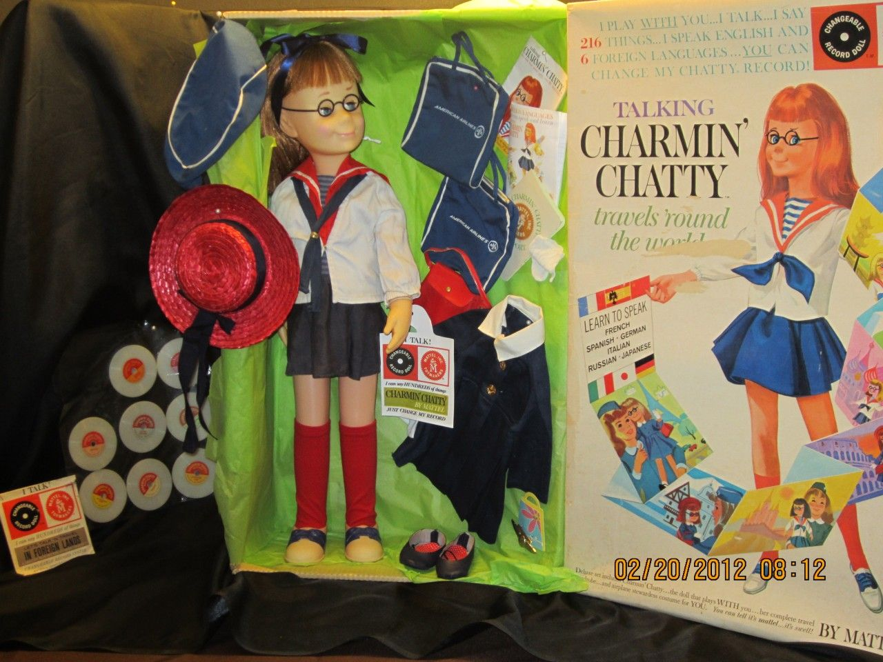 Lovely Charmin' Chatty set with box, sailor- and travel set (not mine)