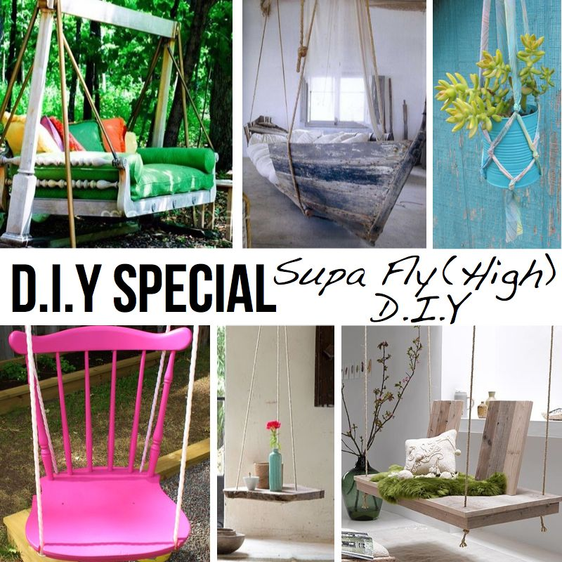Very cool hanging swings tables now if i could just find for Diy indoor swing chair