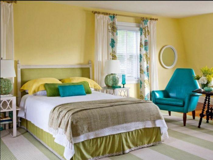 farbgestaltung schlafzimmer wandgestaltung wanddesign samt gelb ... - Farbgestaltung Schlafzimmer Gelb