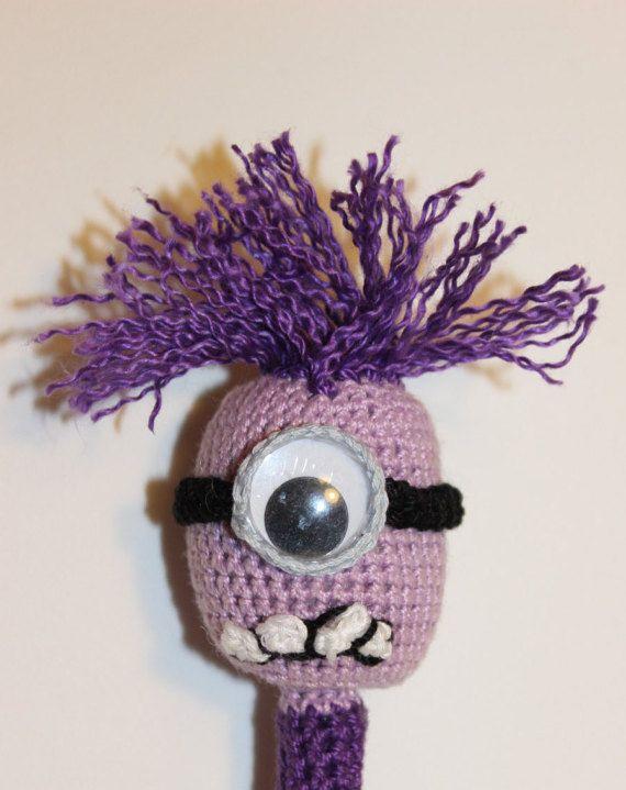 Purple Minion Crochet Writing Pen by PenPalsAndMore on Etsy ...