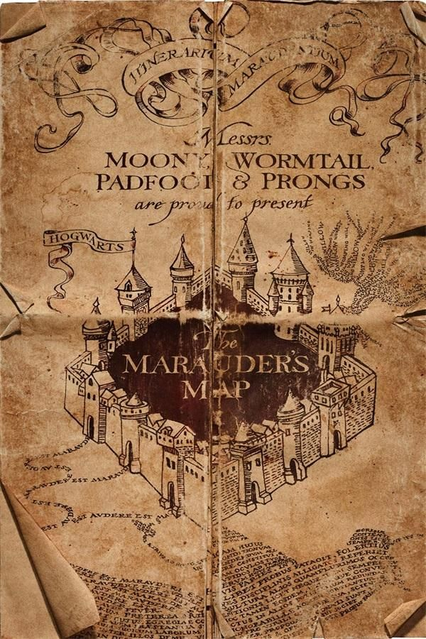 Custom Canvas Wall Decor Harry Potter Poster Harry Porter Map Wall Stickers Hogwarts Decals The Marauder's Map Wallpaper #842 #diywalldecor