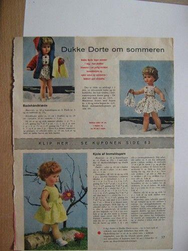 Ældre opskrift med lidt tøj til Dukke Dorthe ok Online Auktion helt Gratis - kun hos Yah.dk