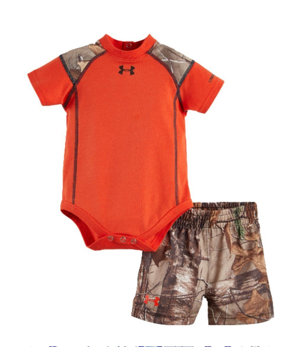 Under Armour Baby Boy's Bodysuit and Shorts Clothing Set