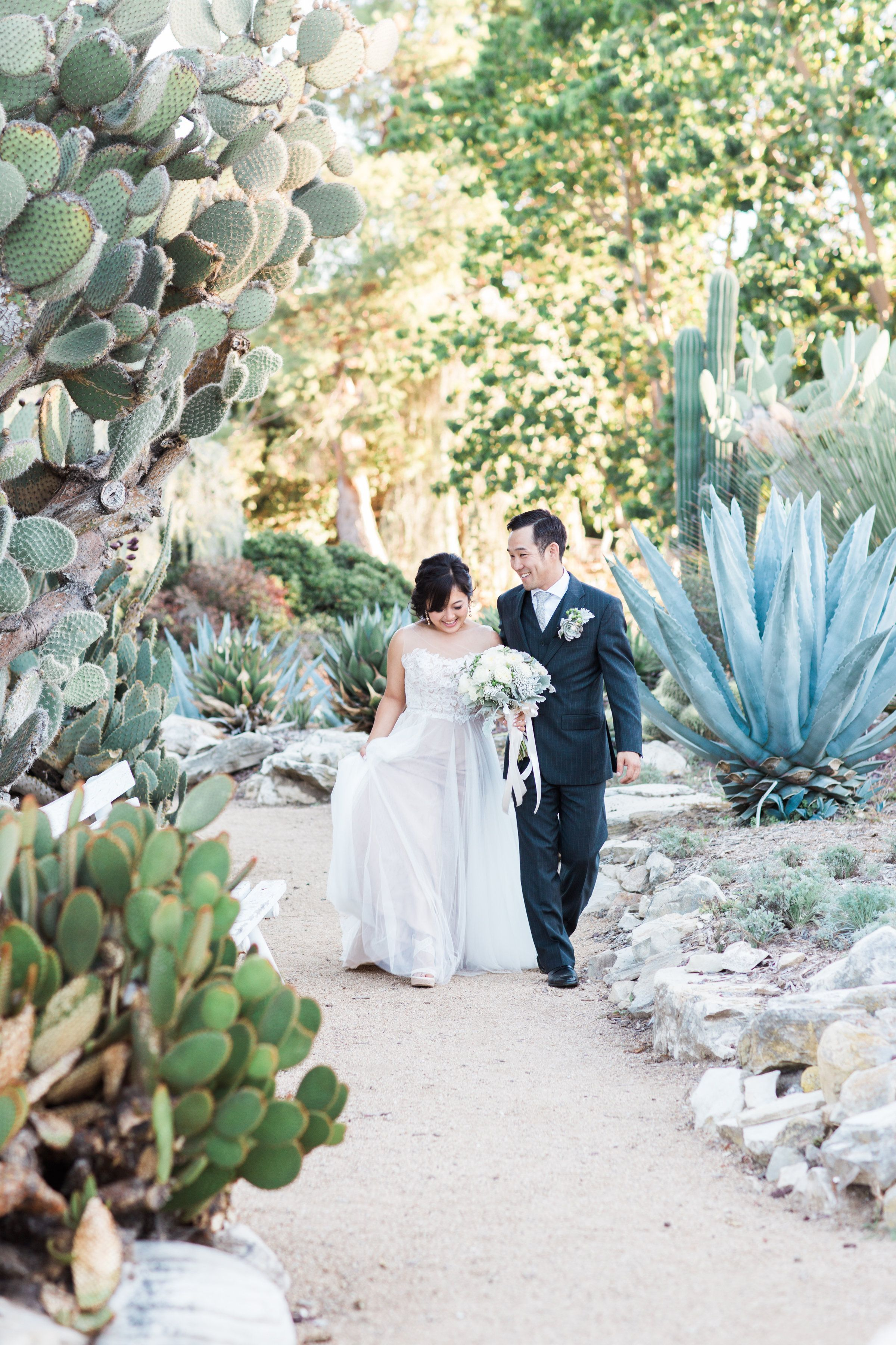Fall Wedding at the South Coast Botanic Garden Cause We